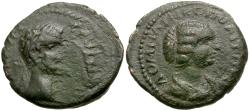Ancient Coins - Septimius Severus (AD 193-211) with Julia Domna. Moesia Inferior. Nicopolis ad Istrum Æ17 / Busts