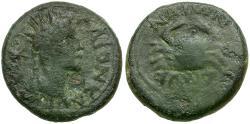 Ancient Coins - Caligula. Ionia. Smyrna Æ15 / Crab