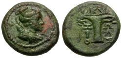 Ancient Coins - VF/VF Aeolis Kyme Æ17