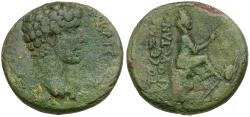 Ancient Coins - Marcus Aurelius, as Caesar (AD 139-161). Cilicia. Augusta Æ25 / Tyche