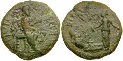 Ancient Coins - Thrace. Bizya. Pseudo-autonomous. Time of Hadrian Æ22 / Dionysos Seated