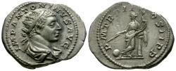Ancient Coins - Elagabalus AR Antoninianus / Providentia