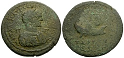 Ancient Coins - Caracalla, Cilicia Tarsos Æ34 / Galley