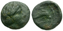 Ancient Coins - Caria. Nisyros (Insel) Æ10 / Dolphin