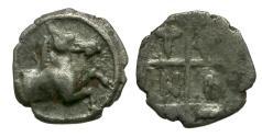 Ancient Coins - Thrace. Trieros AR Hemiobol / Horse