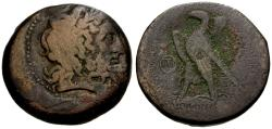 Ancient Coins - gF+/gF+ Ptolemaic Kings of Egypt, Ptolemy II Philadelphos Æ31 / Ake-Ptolemais Mint