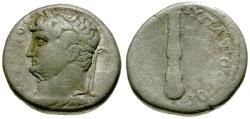 Ancient Coins - gF+/gF Hadrian, Cappadocia Caesarea AR Didrachm / Club