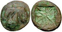 Ancient Coins - Sicily. Selinus Didrachm Æ fouree core