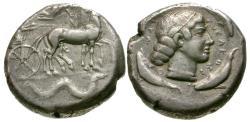 Ancient Coins - Sicily. Syracuse AR Tetradrachm / Ketos