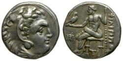 Ancient Coins - Kings of Macedon. Philip III Arrhidaios AR Drachm / Bee