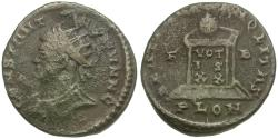 Ancient Coins - Constantine II as Caesar (AD 316-337) Æ Nummus / Globe on Altar