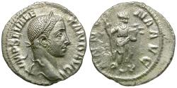Ancient Coins - Severus Alexander (AD 222-235) AR Denarius / Annona