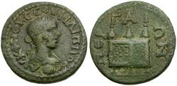 Ancient Coins - Philip II. Pamphylia. Perga Æ23 / Prize chest