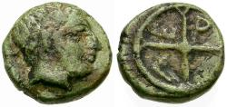 Ancient Coins - Troas. Gergis Æ8 / Lindgren Plate Coin