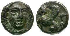 Ancient Coins - Troas. Gergis Æ9 / Herophila and Sphinx