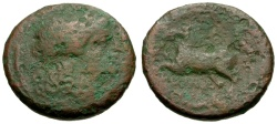 Ancient Coins - 234-231 BC - Roman Republic Anonymous Æ Litra / Apollo / Horse