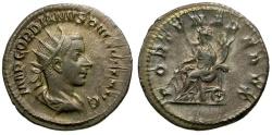 Ancient Coins - Gordian III AR Antoninianus / Fortuna Seated