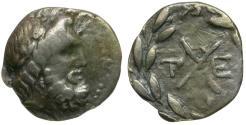 Ancient Coins - Achaia. Achaian League. Tegea AR Hemidrachm / Zeus and Wreath