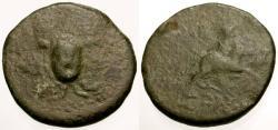Ancient Coins - gF/gF Cilicia, Soloi Æ23 / Aegis / Aphrodite riding bull