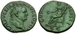 Ancient Coins - Vespasian (AD 69-79) Æ Dupondius / Concordia