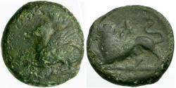 Ancient Coins - Akarnania and Aetolia. Leukas Æ16 / Chimera