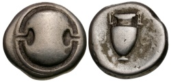 Ancient Coins - Boeotia. Thebes AR Stater / Shield