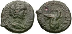 Ancient Coins - Julia Domna (AD 193-217) Moesia Inferior. Nicopolis ad Istrum Æ16 / Eagle