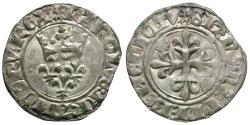 World Coins - France. Royal. Charles VI (1380-1422) AR Gros dit florette