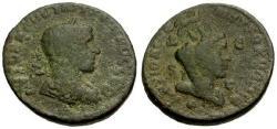 Ancient Coins - gF/gF+ Philip I, Syria Antioch Æ28 / Tyche