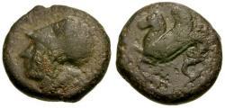 Ancient Coins - Sicily. Syracuse. Dyonysios I Æ Litra / Hippocamp