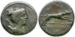 Ancient Coins - 74 BC - Roman Republic. C. Postumius AR Denarius / Hound