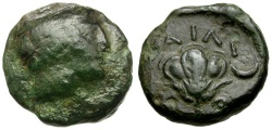 Ancient Coins - Macedon. Tragilos Æ15 / Rose