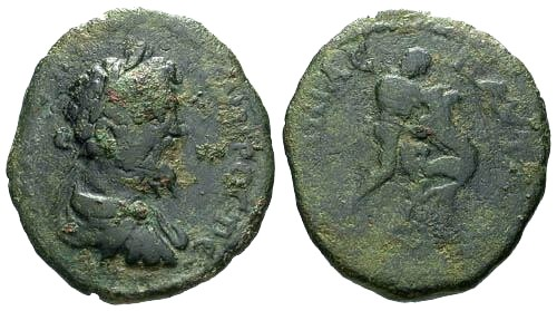 Ancient Coins - aVF/aVF Septimius Severus Thrace Pautalia AE / Strangling the Nemean lion