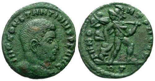 Ancient Coins - VF/VF Constantine the Great AE Fraction / Mars