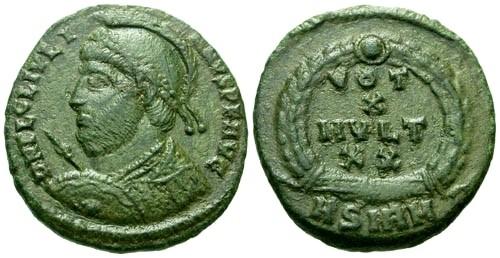 Ancient Coins - VF/VF Julian the Apostate as Augustus AE3 / Votive