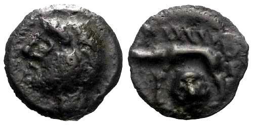Ancient Coins - VF/EF Rare Haute et Moyenne Seine Potin / Severed Head