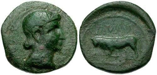 Ancient Coins - VF/aVF Time of Augustus AE Quadrans Treveri Tribe