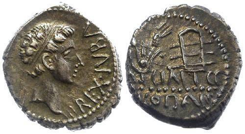 Ancient Coins - MAURETANIA, Kings. Juba II and Cleopatra Selene Roman Provincial AR Denarius