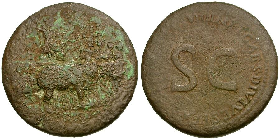 Ancient Coins - Divus Vespasian struck by Titus Æ Sestertius / Elephant Quadriga