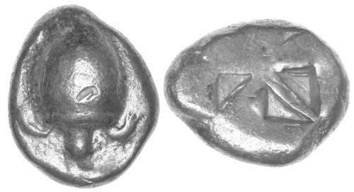 Ancient Coins - F+/F+Aegina AR Stater / Tortoise