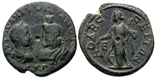 Ancient Coins - VF/VF Gordian III AE 27 Thrace Odessus / Demeter