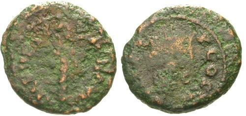 Ancient Coins - VG/VG Vespasian Judea Capta Quadrans / Palm Tree and Trophy
