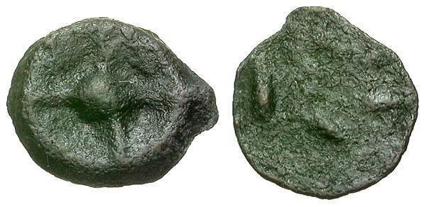 Ancient Coins - aVF/aVF Moesia Istros Æ14 Wheel money