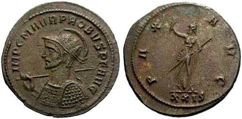 Ancient Coins - EF/EF Probus Antoninianus / Pax