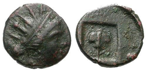 Ancient Coins - aVF/aVF Rhodes Islands off Caria / Rose in Incuse