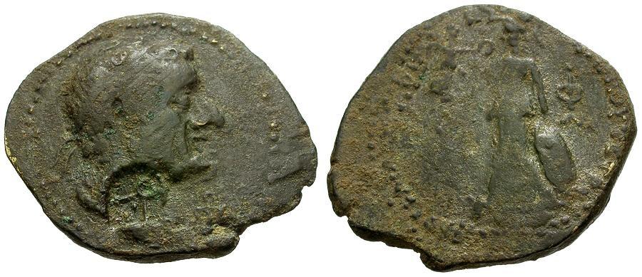 Ancient Coins - Coele Syria.  Chalkis.  Lysanias. son of Ptolemy Æ21 / Athena