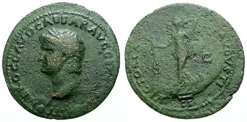 Ancient Coins - aVF/aVF Nero AE Dupondius / Victory