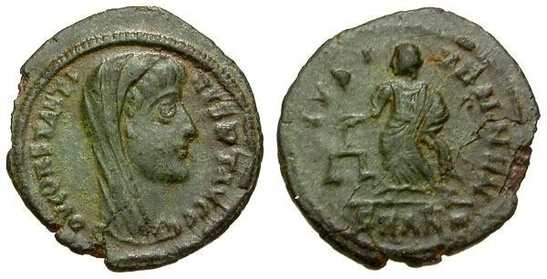 Ancient Coins - EF/VF Divo Constantine I The Great Æ4 / Aequitas