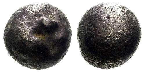 Ancient Coins - Rare Belgic Electrum 1/4 Globule Stater