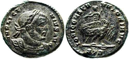 Ancient Coins - EF-FDC Rare Licinius AE3/4 / Licinius on Eagle